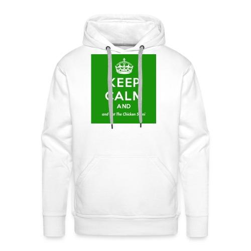 Keep Calm and Get The Chicken Sarni - Green - Men's Premium Hoodie