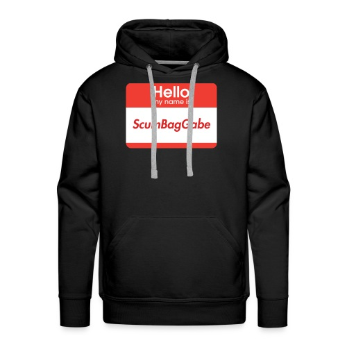 Hello My Name Is ScumBagGabe - Men's Premium Hoodie
