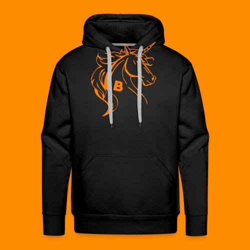 orange biodusty unicorn shirt - Mannen Premium hoodie