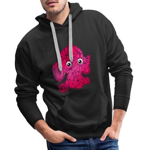 Éléphant géométrique - Sweat-shirt à capuche Premium pour hommes
