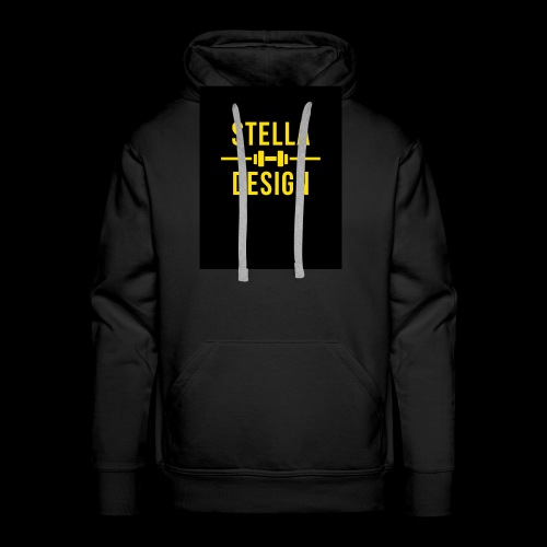 Yellow and Black Fitness hoodie - Premiumluvtröja herr