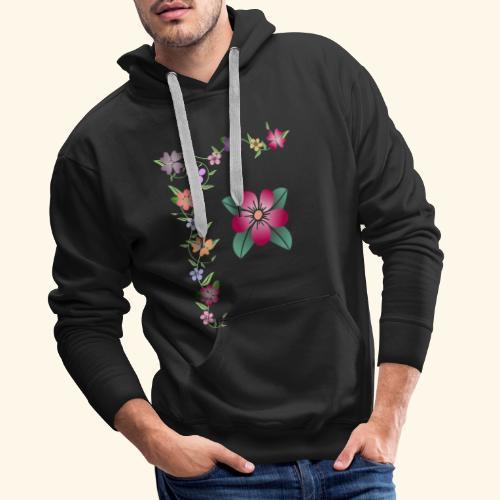 Blumenranke, Blumen, Blüten, floral, blumig, bunt - Männer Premium Hoodie