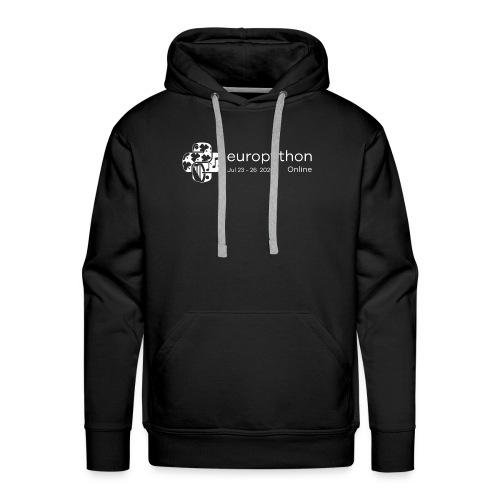 EuroPython 2020 - White Logo - Men's Premium Hoodie