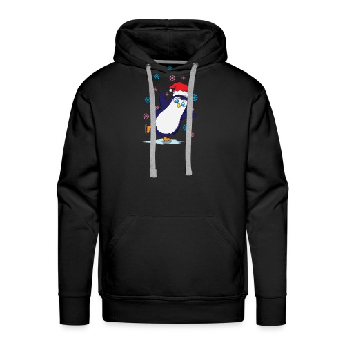 Weihnachten Pinguin Schlittschuh laufen - Männer Premium Hoodie