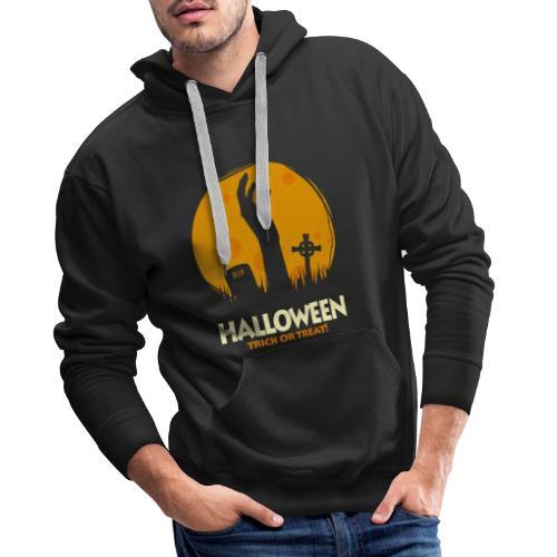 Halloween trick or treat t-shirt tee t shirt - Men's Premium Hoodie