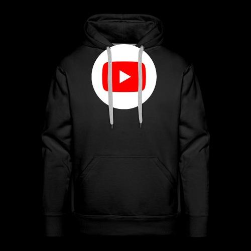 1024px YouTube social white circle 282017 29 svg - Männer Premium Hoodie