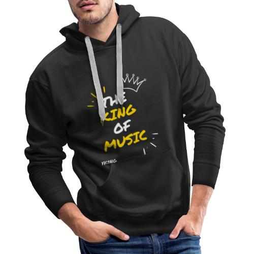 The king Of Music - Sudadera con capucha premium para hombre