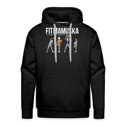 Fitmamuśka - Koszulka Czarna - Bluza męska Premium z kapturem