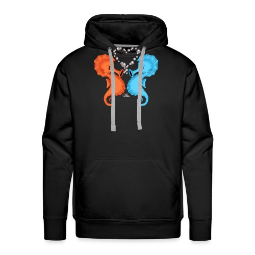 Seepferdchenliebe - Männer Premium Hoodie