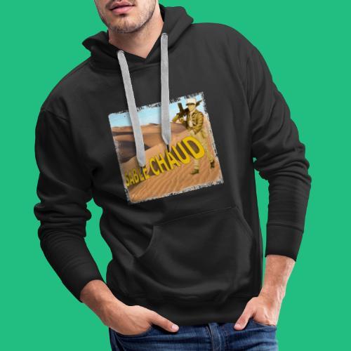sable chaud - Sweat-shirt à capuche Premium pour hommes