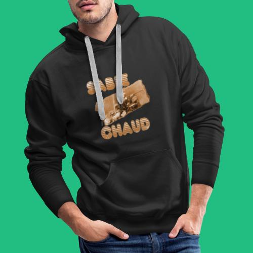 sable chaud3 - Sweat-shirt à capuche Premium pour hommes