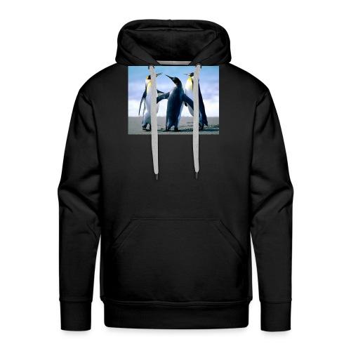 Penguins - Felpa con cappuccio premium da uomo