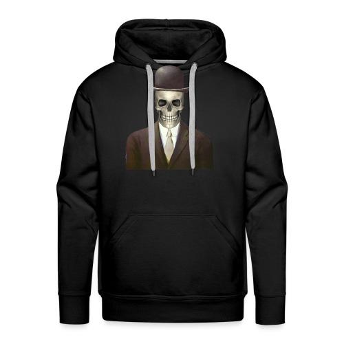 magritte skull - Felpa con cappuccio premium da uomo