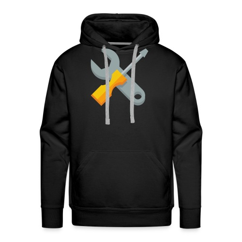 wrench screwdriver icon - Mannen Premium hoodie