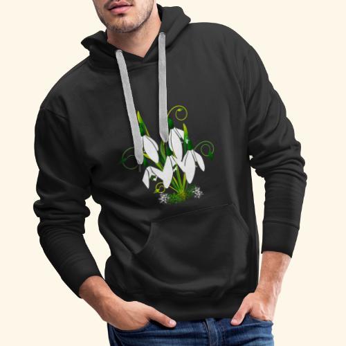 Schneeglöckchen, Blumen, Blüten, floral, Ornamente - Männer Premium Hoodie