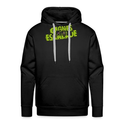 LOGO CAGNES ESCALADE - Sweat-shirt à capuche Premium pour hommes