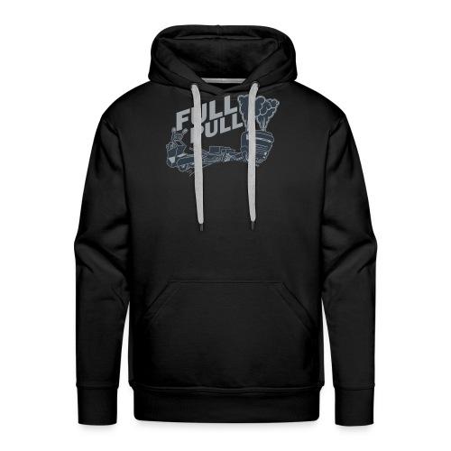 full pull duotone contour landscape - Mannen Premium hoodie