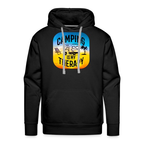 camping is my therapy - Männer Premium Hoodie