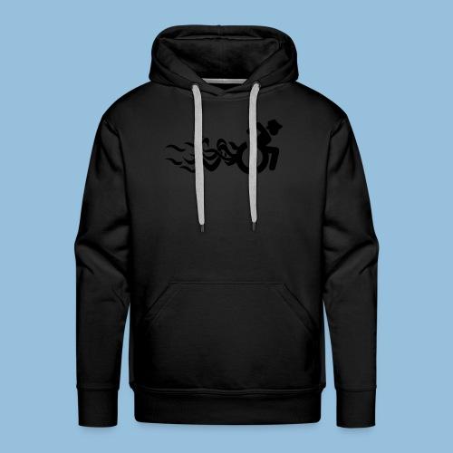 Wheelchair with flames 013 - Mannen Premium hoodie