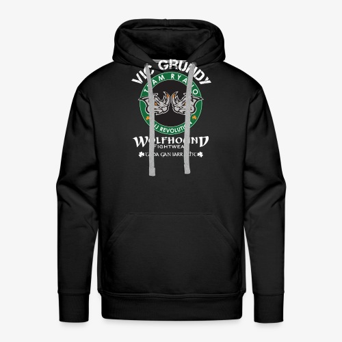 vic grundy back white png - Men's Premium Hoodie