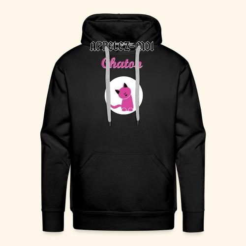 appelez-moi-chaton - Sweat-shirt à capuche Premium pour hommes