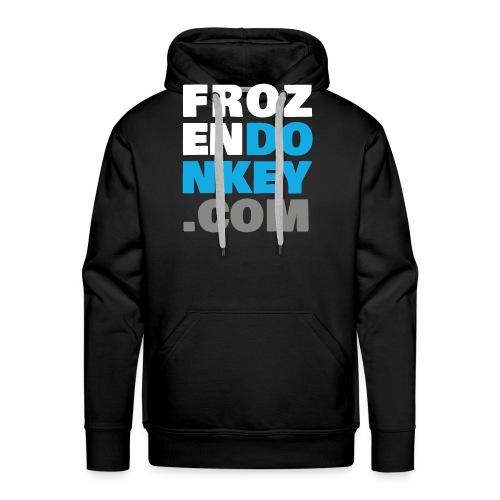 FrozenDonkey Back URL 2 - Männer Premium Hoodie
