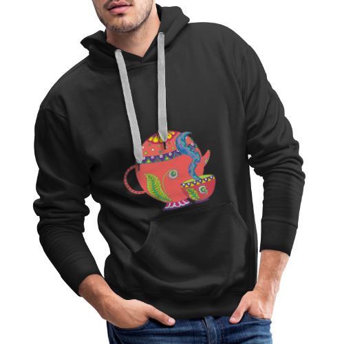 L'heure du thé - Sweat-shirt à capuche Premium pour hommes