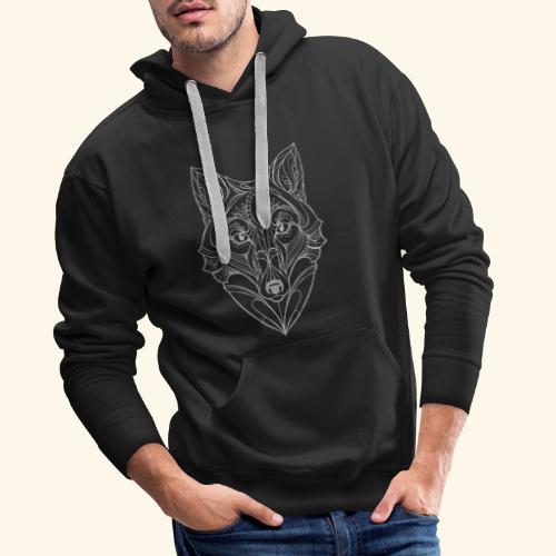 Wolf by ELKAN for black designs - Herre Premium hættetrøje