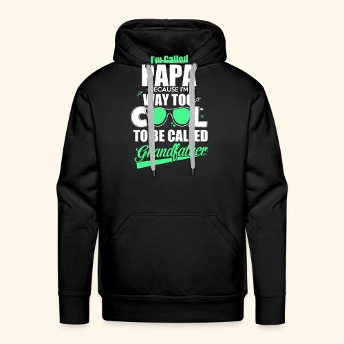 Cooles Papa Opa Grandfather T-Shirt Englisch - Männer Premium Hoodie