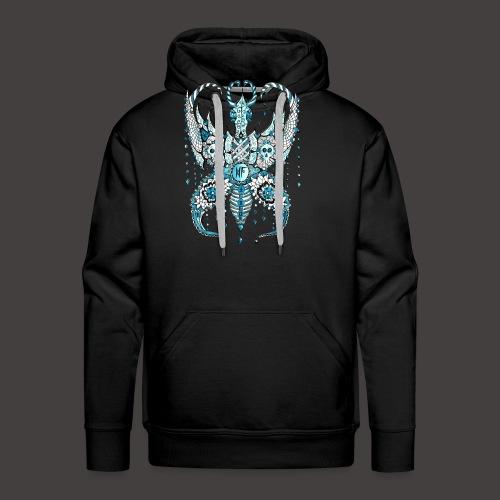 Papillon Lilou Turquoise - Sweat-shirt à capuche Premium pour hommes