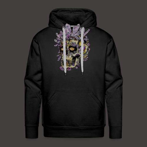 Le Crane de Cristal Creepy - Sweat-shirt à capuche Premium pour hommes