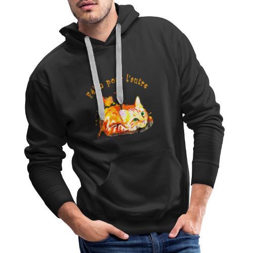 Chat roux,Félin pour l'autre - Sweat-shirt à capuche Premium pour hommes