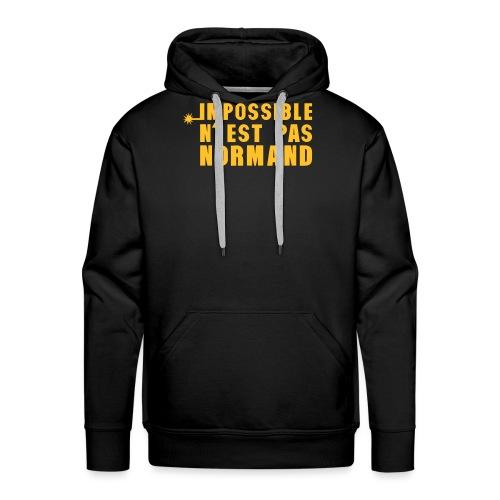 normand impossible nest pas meche - Sweat-shirt à capuche Premium pour hommes