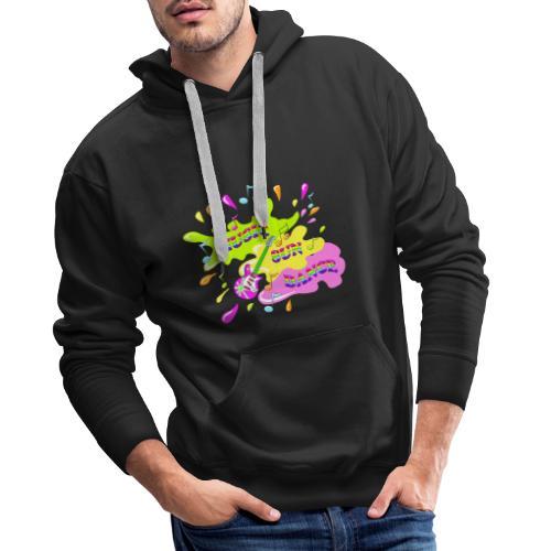 MUSIC RAINBOW colorcontest - Sweat-shirt à capuche Premium pour hommes