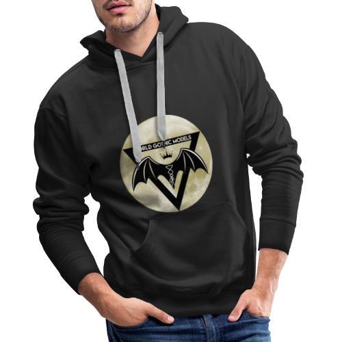 Single WGM Logo Moon Design - Men's Premium Hoodie