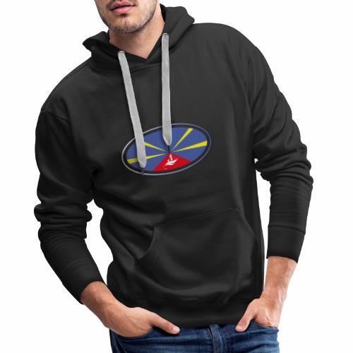 Paddle Reunion Flag - Sweat-shirt à capuche Premium pour hommes