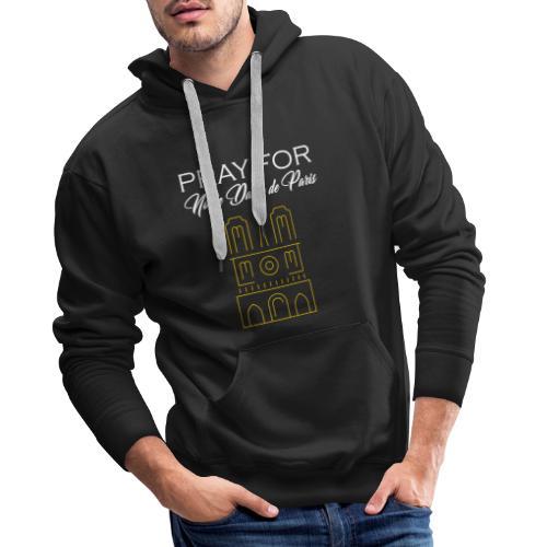 Pray For Notre Dame de Paris - Sweat-shirt à capuche Premium pour hommes