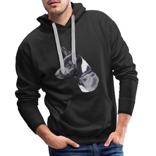 basenji black - Herre Premium hættetrøje