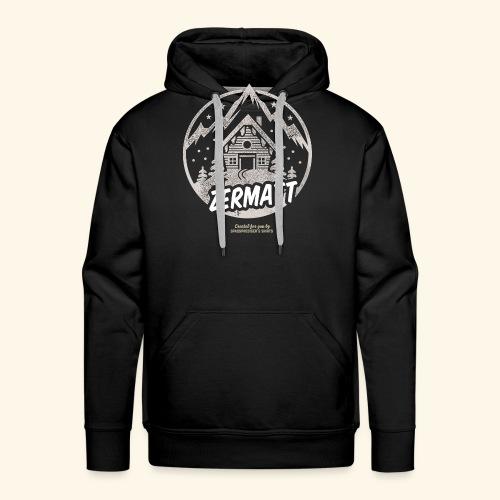 Zermatt Skigebiet Schweiz Design - Männer Premium Hoodie
