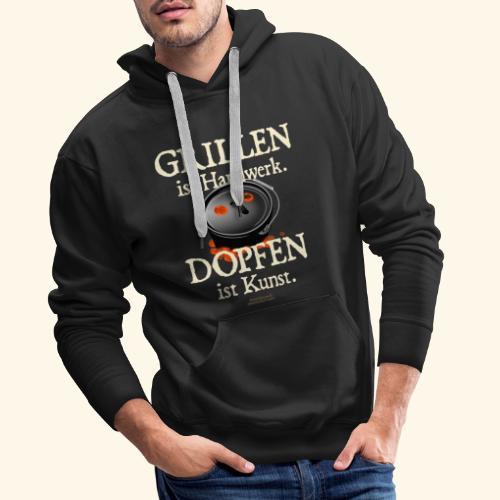Grillen Handwerk, Dopfen Kunst Dutch Oven T-Shirt - Männer Premium Hoodie