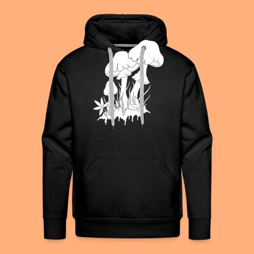 champignons noir et blanc - Sweat-shirt à capuche Premium pour hommes