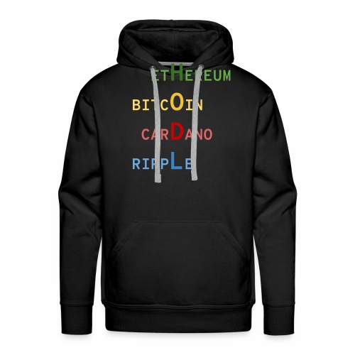 HODL color - Sweat-shirt à capuche Premium pour hommes