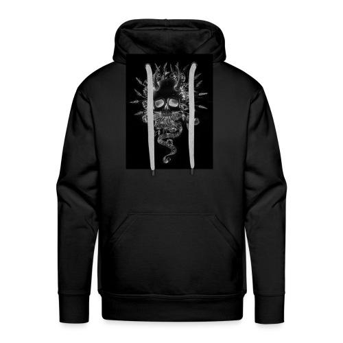 artworkSkull and flowers tshirt print negative - Men's Premium Hoodie