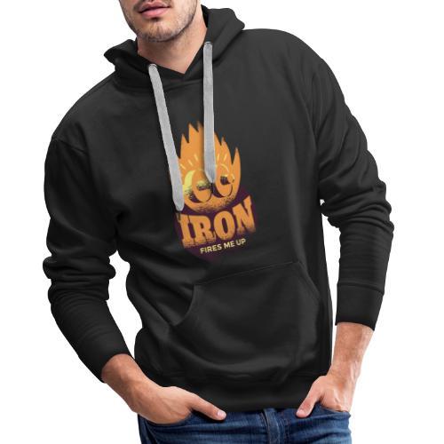 Eisen Feuer feuert mich an Bodybuilding Fitness - Männer Premium Hoodie