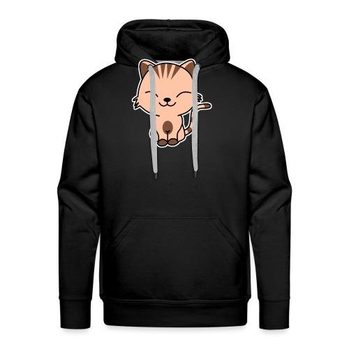 Fröhliche Katze - Männer Premium Hoodie