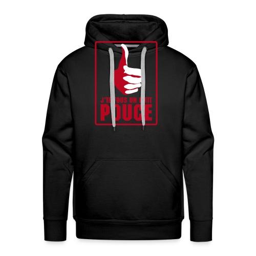 fouspouce - Sweat-shirt à capuche Premium pour hommes