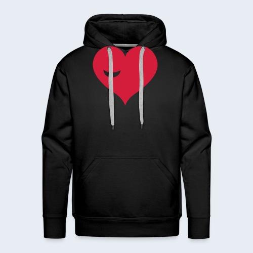 Winky Heart - Mannen Premium hoodie