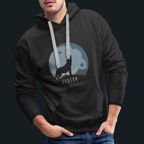 Hudsonvisuals Wolf Blue - Männer Premium Hoodie