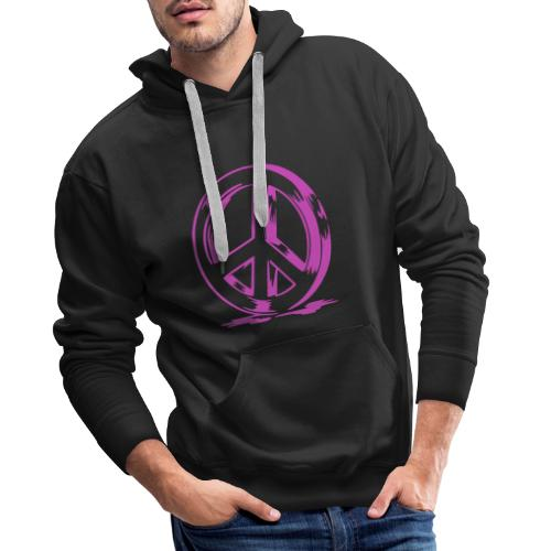 Peace and Love - Sweat-shirt à capuche Premium pour hommes