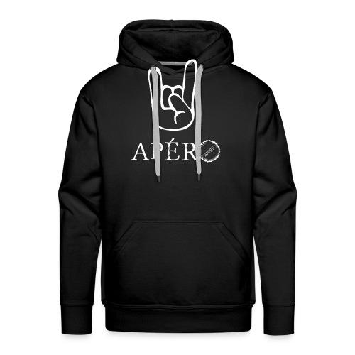 rock and apéro - Sweat-shirt à capuche Premium pour hommes